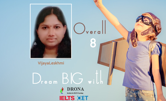 Congratulations VijayaLekshmi for Scoring Overall 8