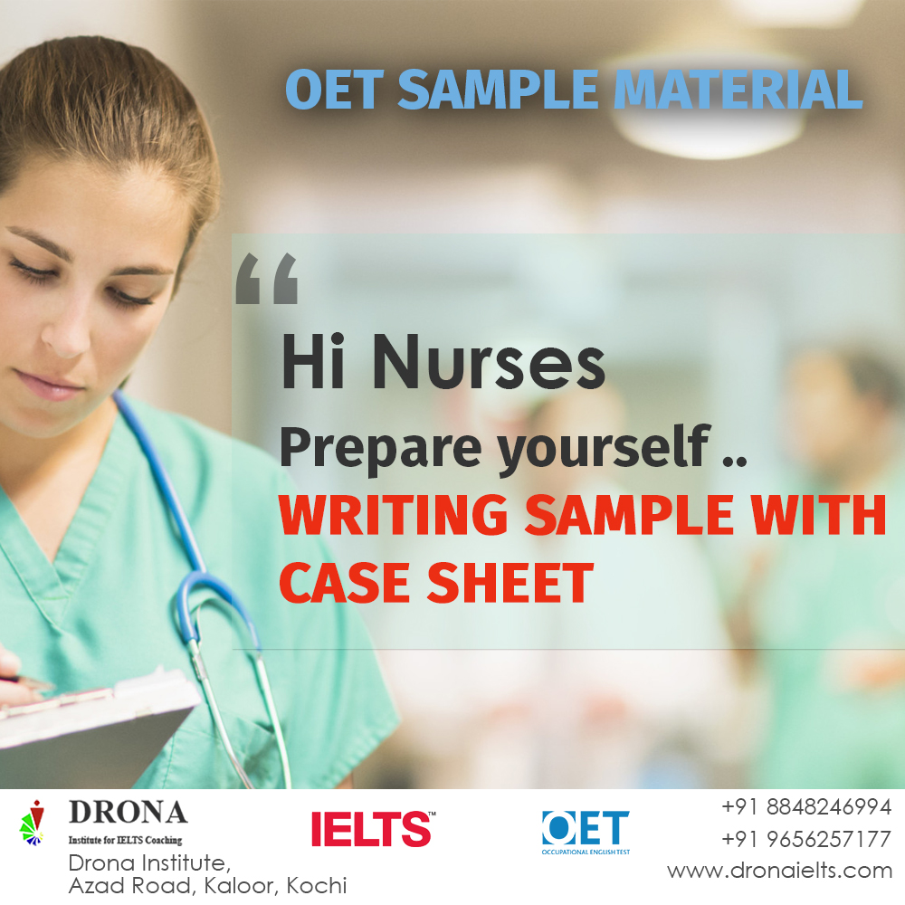 OET sample material for exam preparation